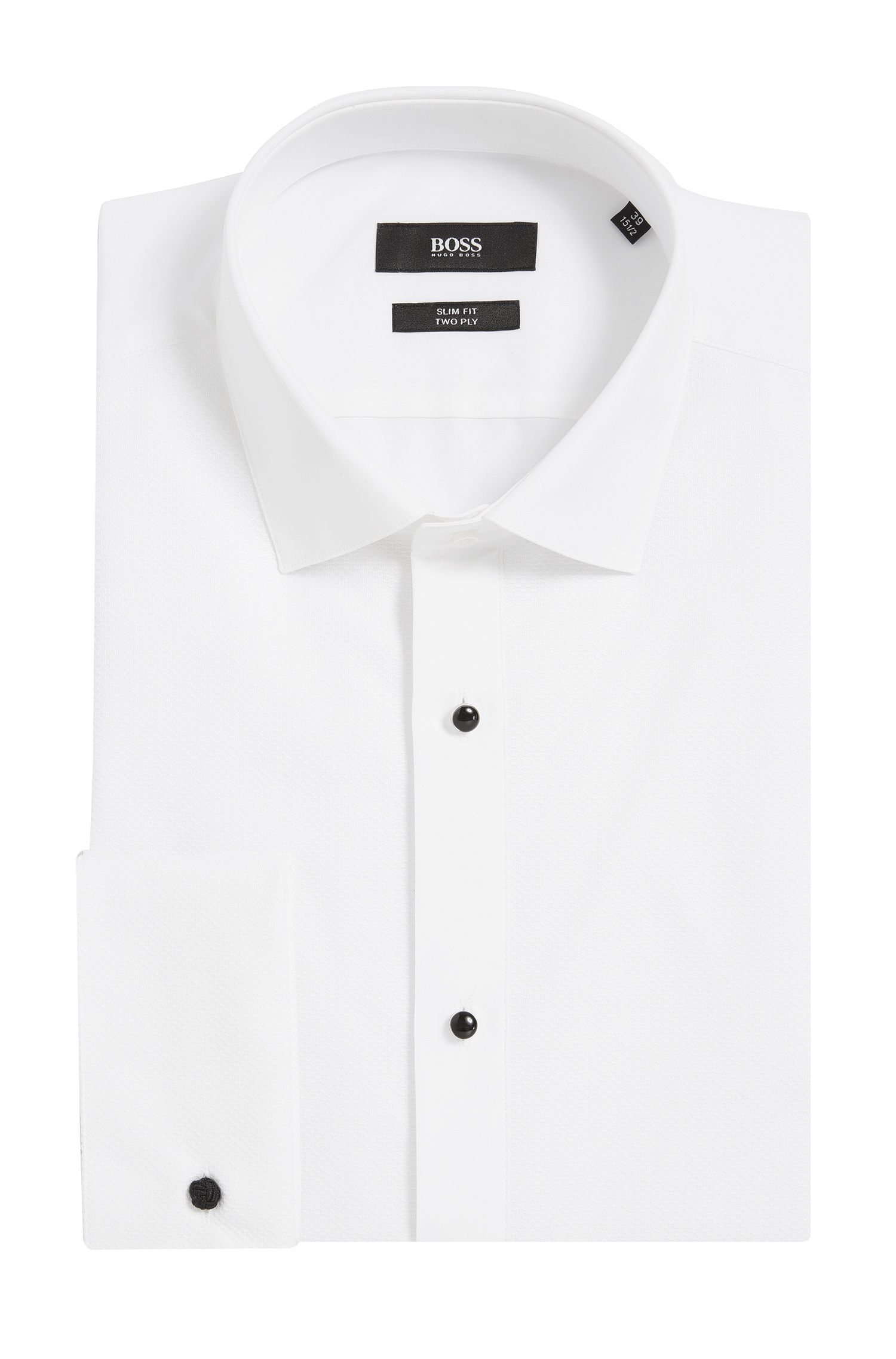 2-Ply Cotton Dress Shirt, Slim Fit   Jant