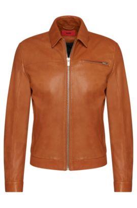Lambskin Nappa Leather Jacket | Latnik, Brown
