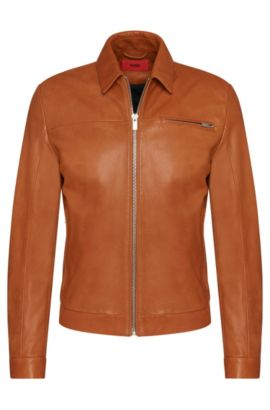'Latnik' | Lambskin Nappa Leather Jacket, Brown