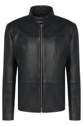 'Lefox' | Nappa Lambskin Biker Jacket, Black