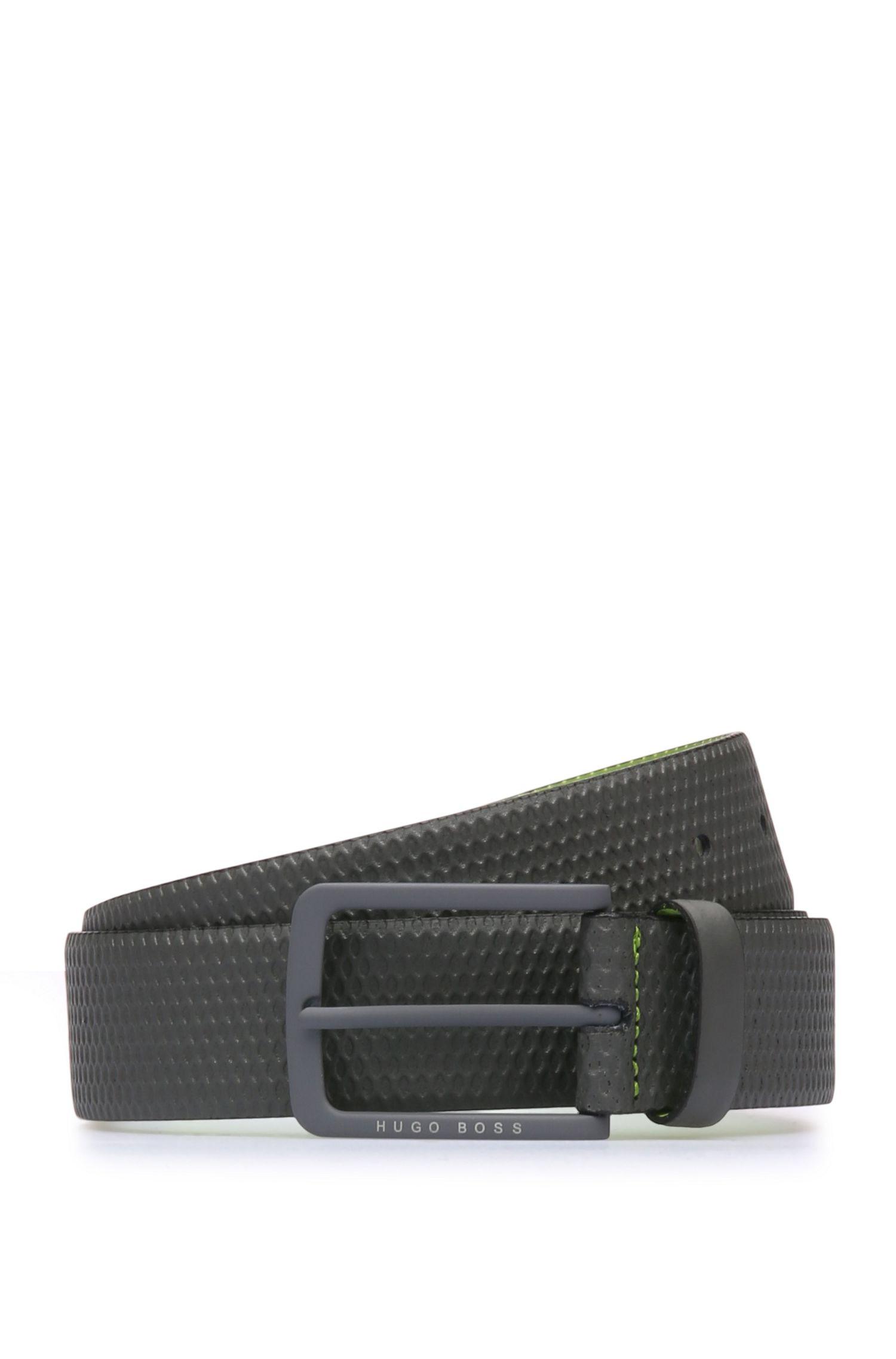 'Teres Sz35 Item' | Leather Textured Belt