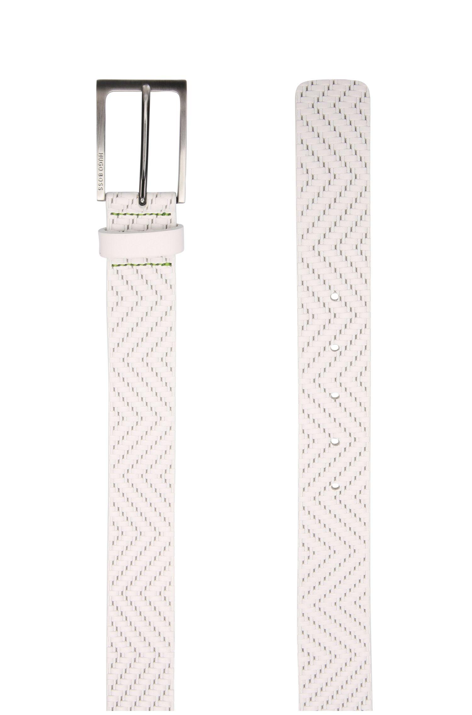 Embossed Leather Belt | Turi Sz35 Item