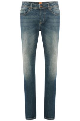 11 oz Stretch Cotton Jeans, Tapered Fit | Orange90, Blue