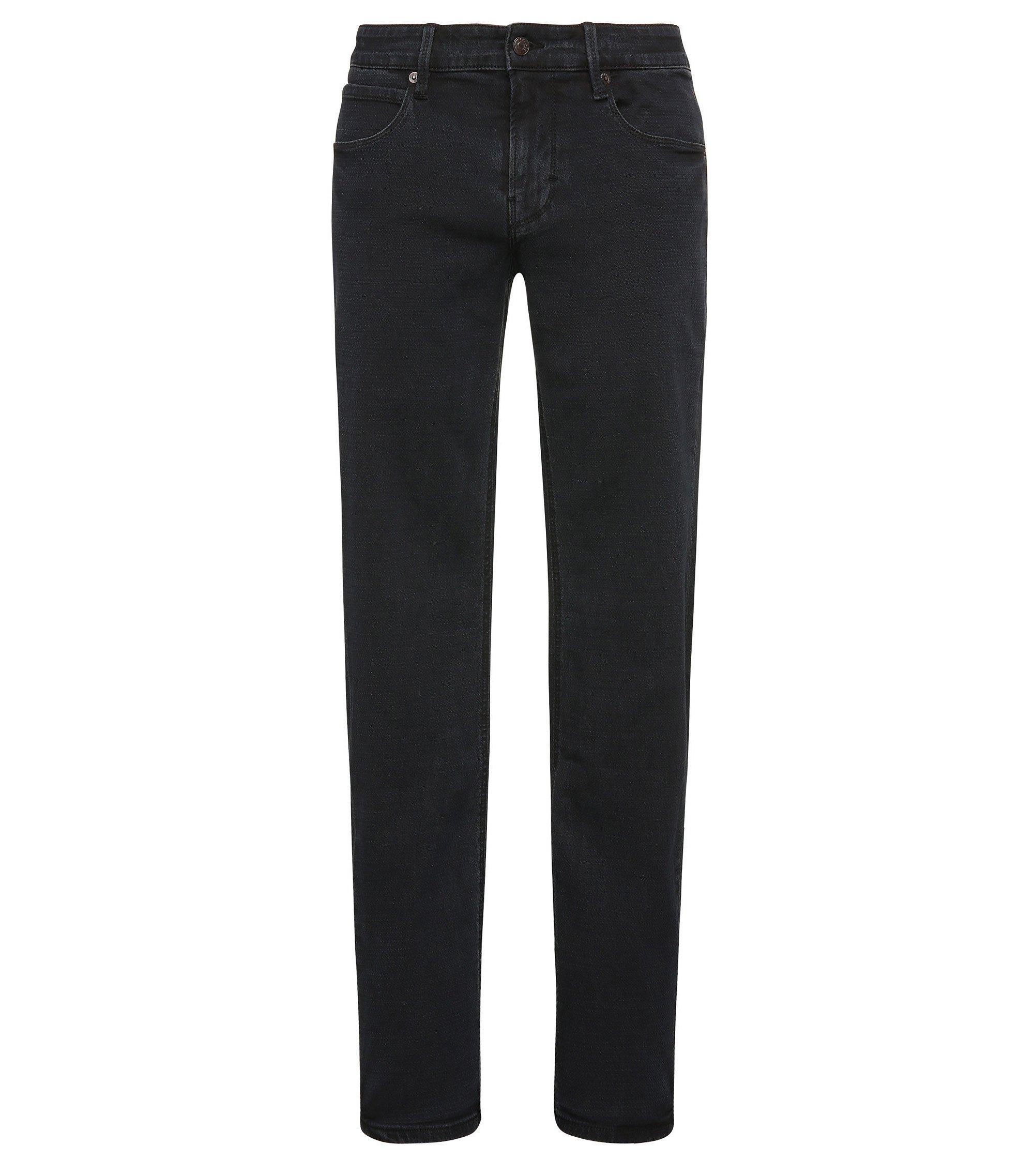 Stretch Cotton Blend Jean, Slim Leg | Orange63, Dark Blue