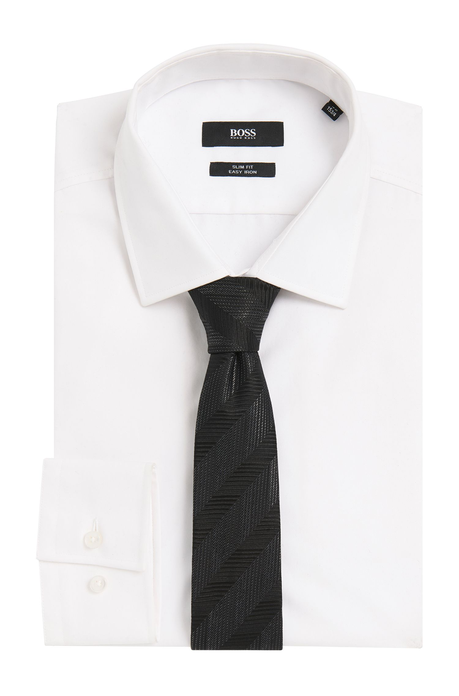 'T-Tie 6 cm' | Slim, Italian Silk Blend Tie