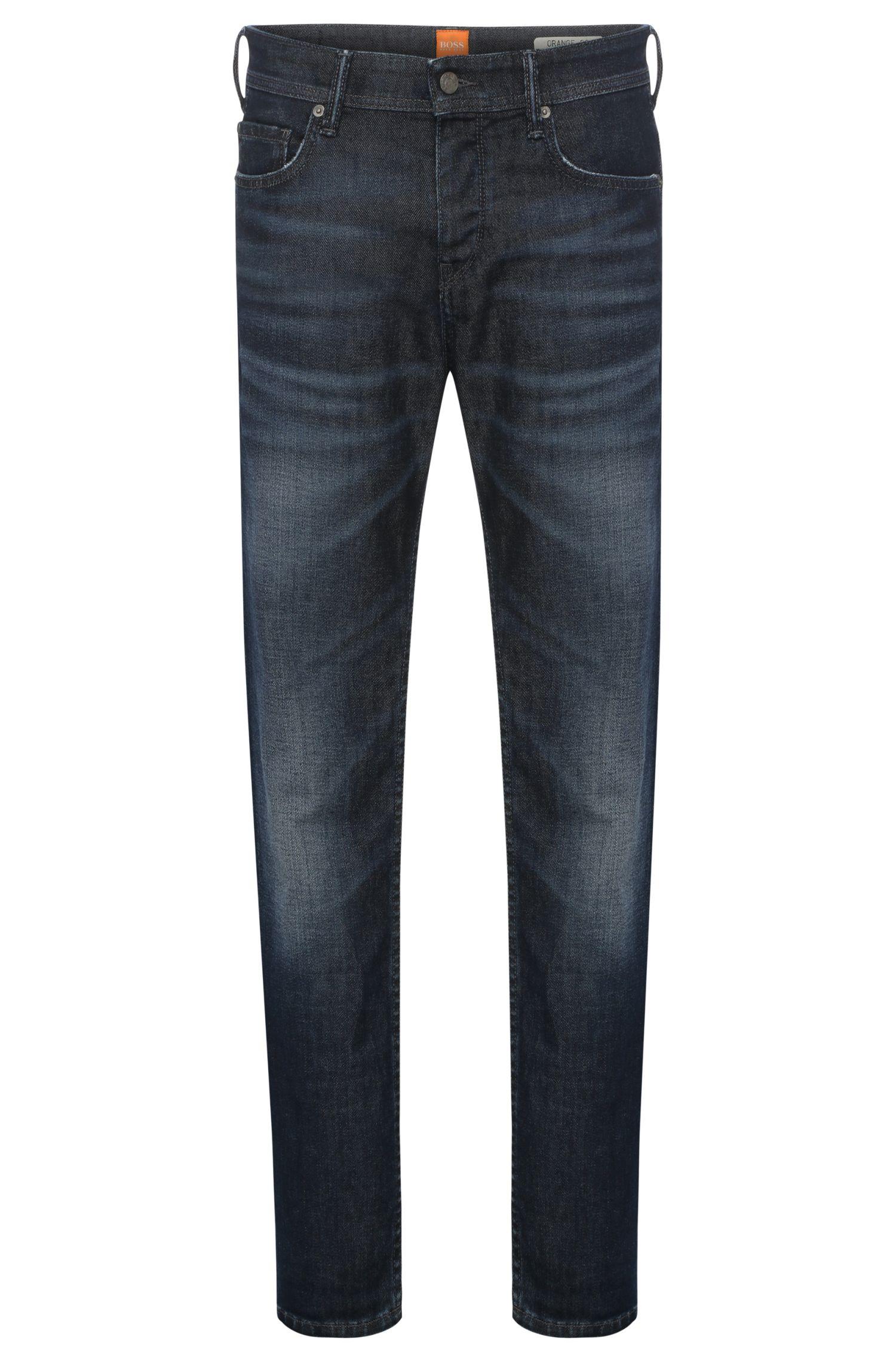 11 oz Stretch Cotton Blend Jeans, Tapered Fit | Orange90