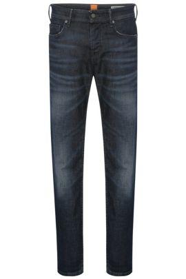 11 oz Stretch Cotton Blend Jeans, Tapered Fit | Orange90, Dark Blue
