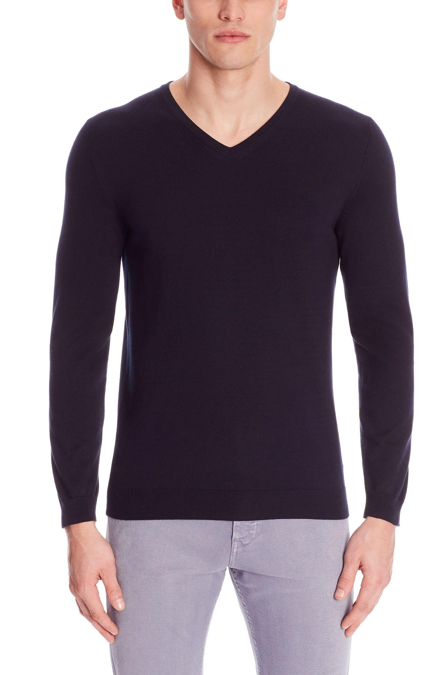 'Fioro'   Italian Cotton V-Neck Sweater