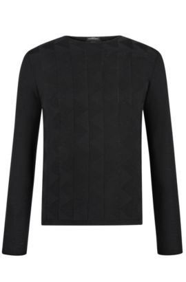 'Ibaro' | Extra-Fine Merino Wool Sweater, Black