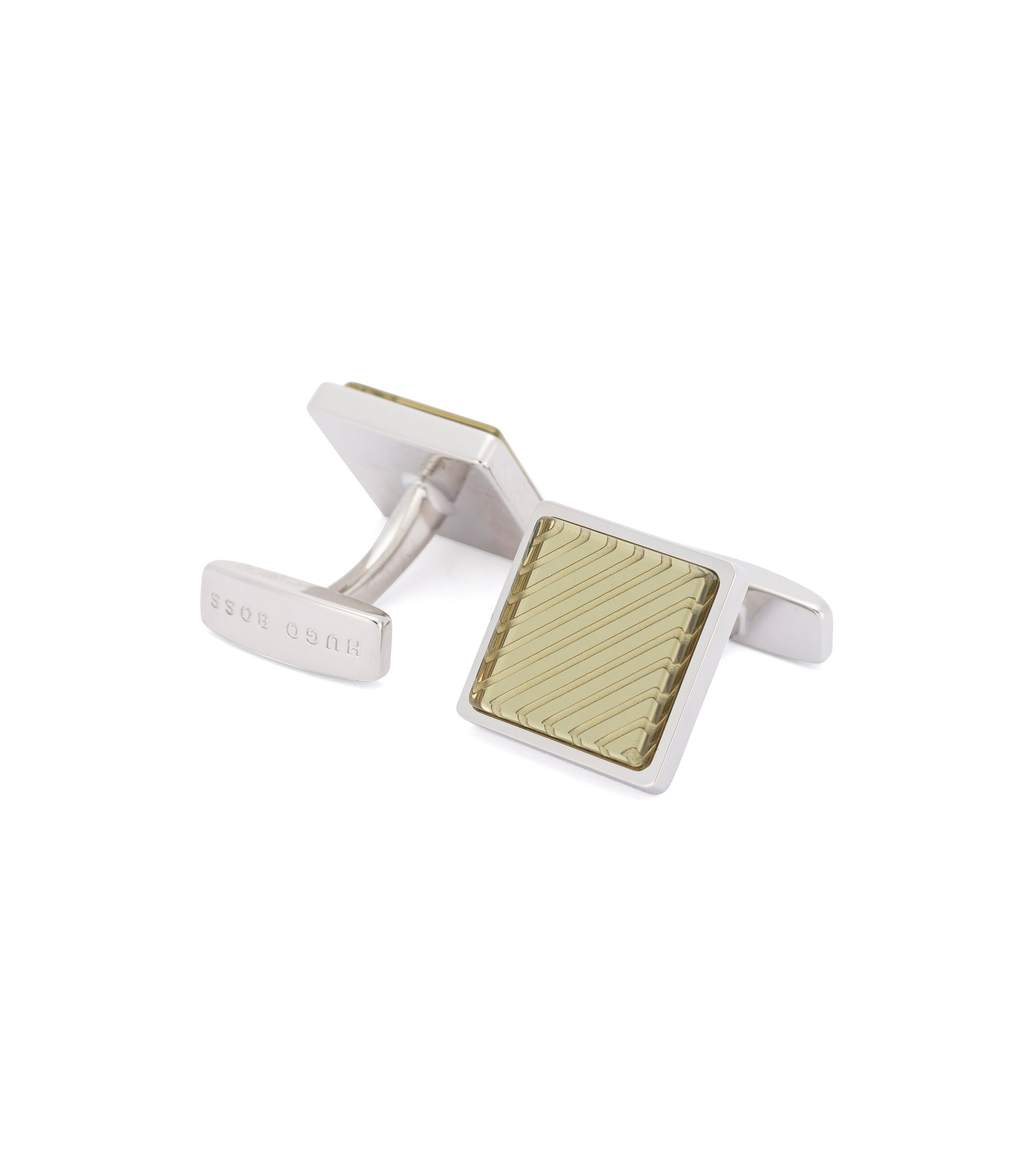 Brass Enamel Cufflinks | Emilio, Green