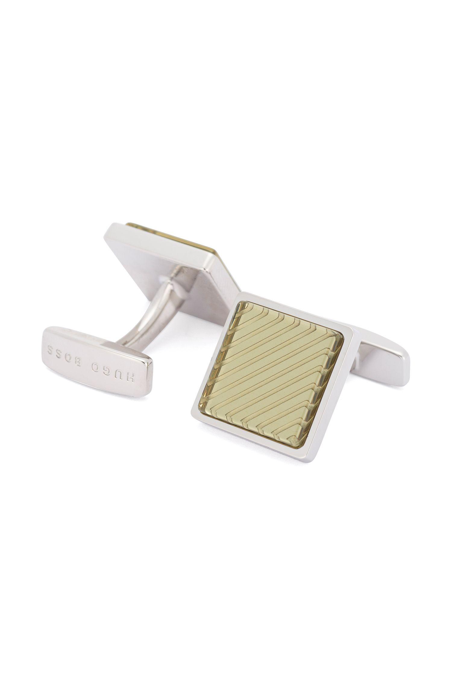 Brass Enamel Cufflinks | Emilio, Green