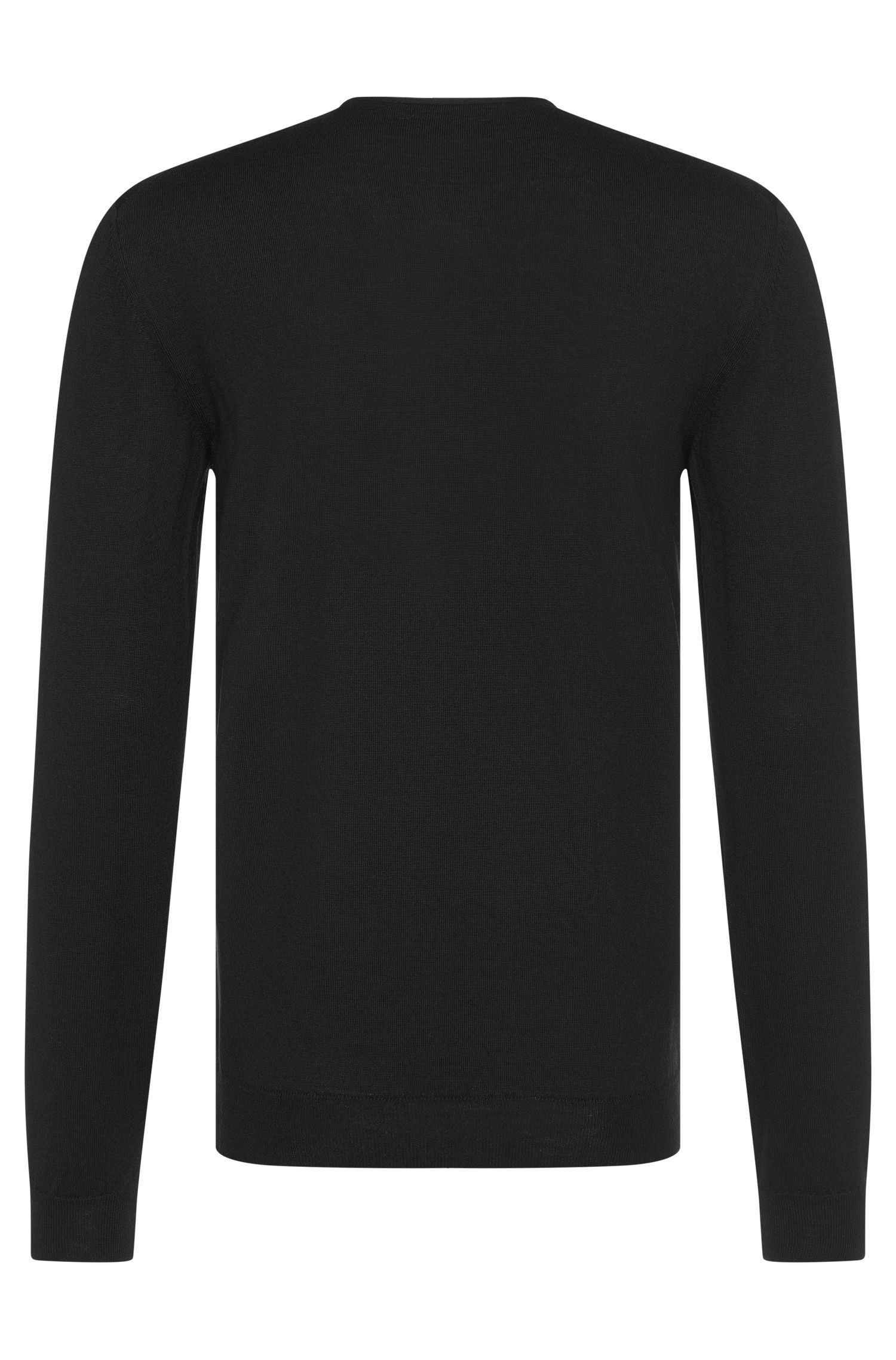 'Isaac' | Extra Fine Merino Virgin Wool Henley Sweater