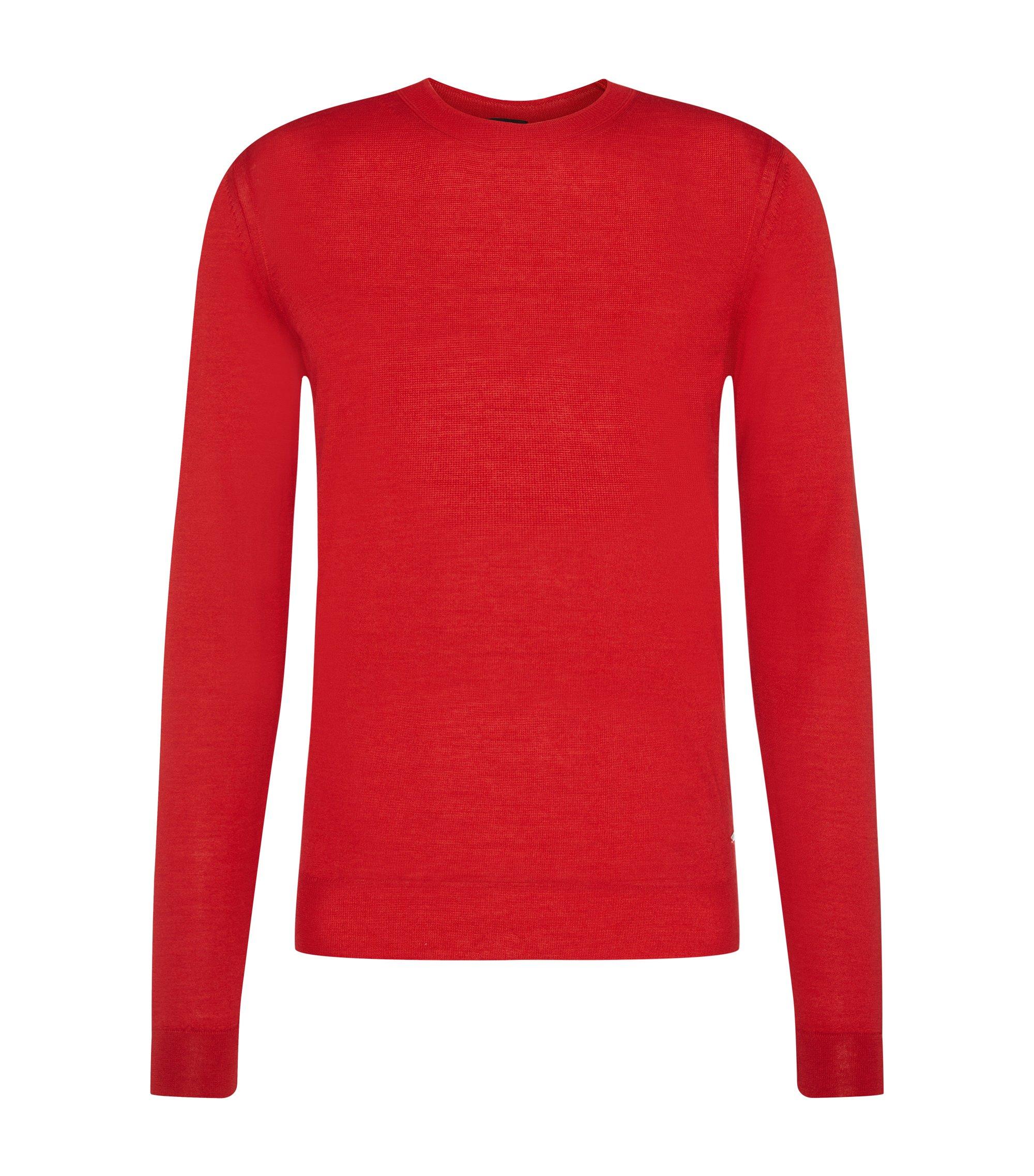 'T-Ion' | Italian Virgin Wool Silk Sweater, Red