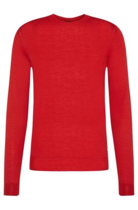 'T-Ion' | Italian Virgin Wool Silk Sweater, Red