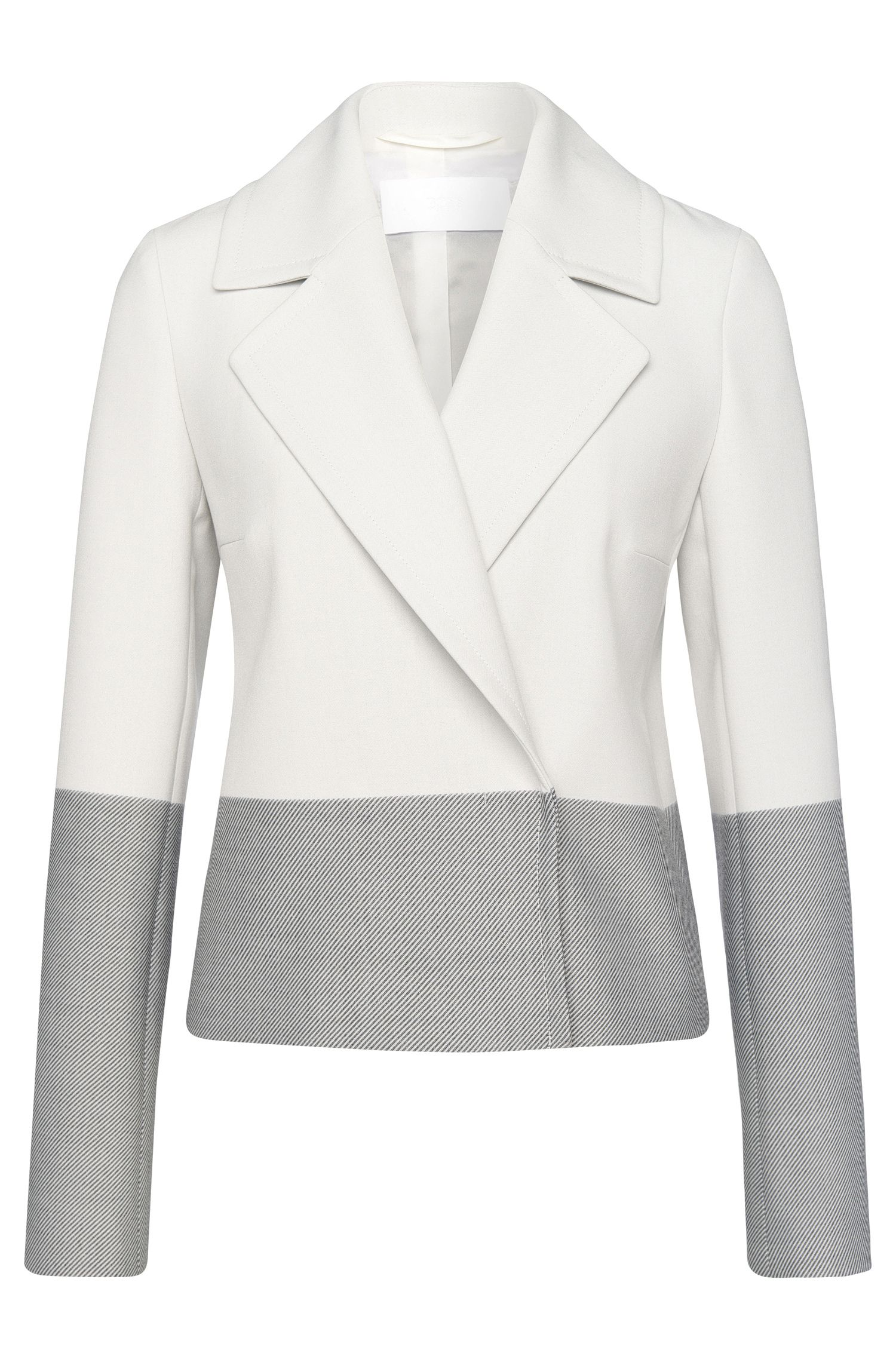 Colorblocked Stretch Viscose Blend Blazer | Kerma