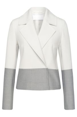 Colorblocked Stretch Viscose Blend Blazer | Kerma, Patterned