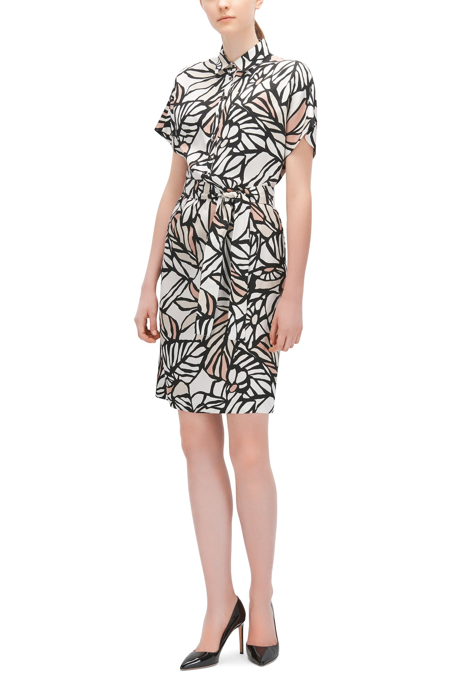 Printed Viscose Linen Shirt Dress | Holera