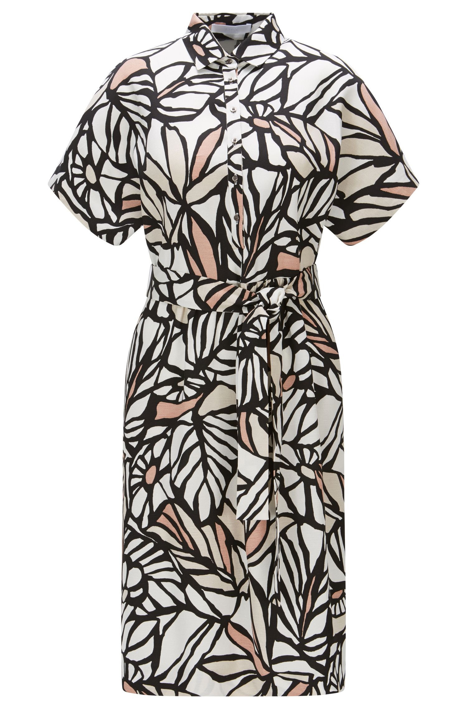 'Holera' | Printed Viscose Linen Shirt Dress