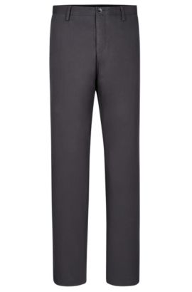 'Stanino W' | Slim Fit, Stretch Cotton Chino Pants, Dark Grey