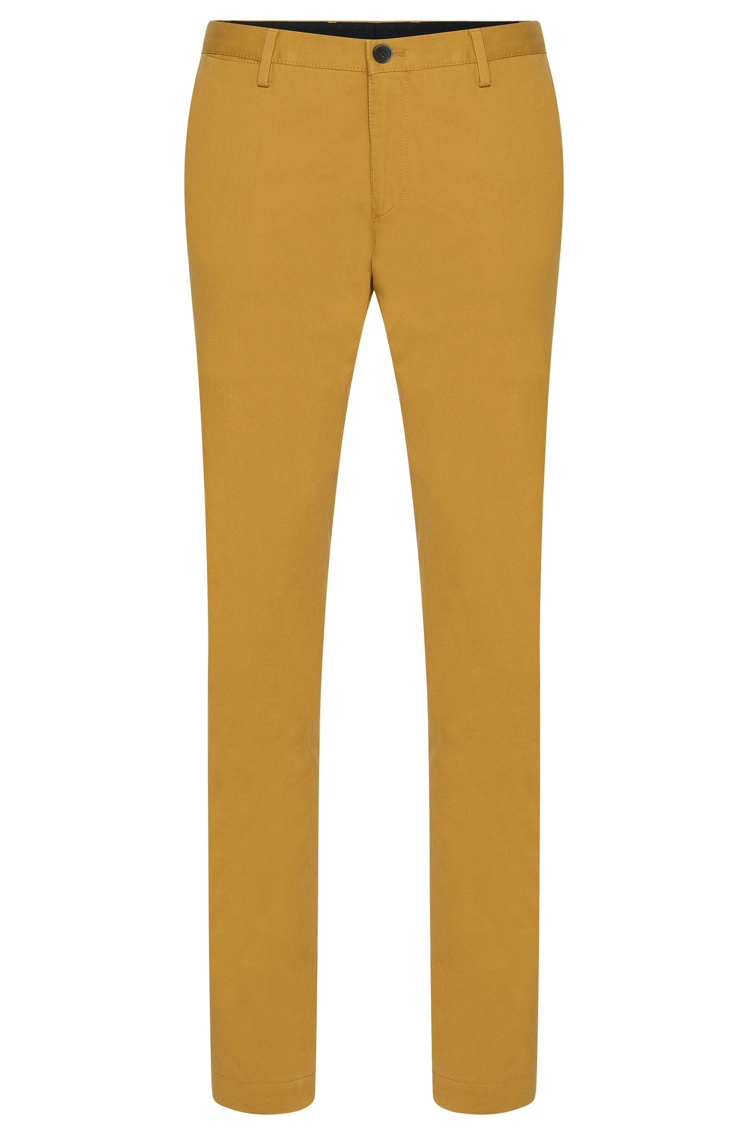 Stretch Cotton Chino Pant, Slim Fit   Stanino W, Green