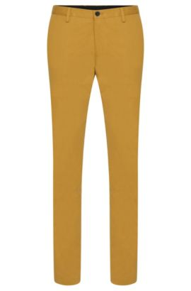 'Stanino W' | Slim Fit, Stretch Cotton Chino Pants, Green