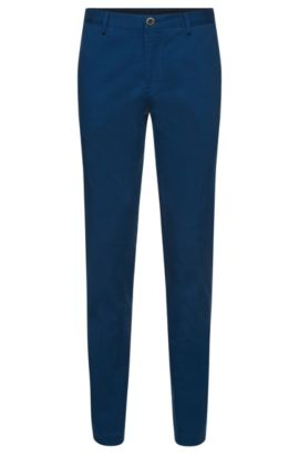 'Stanino W' | Slim Fit, Stretch Cotton Chino Pants, Blue