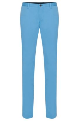 'Stanino W' | Slim Fit, Stretch Cotton Chino Pants, Light Blue