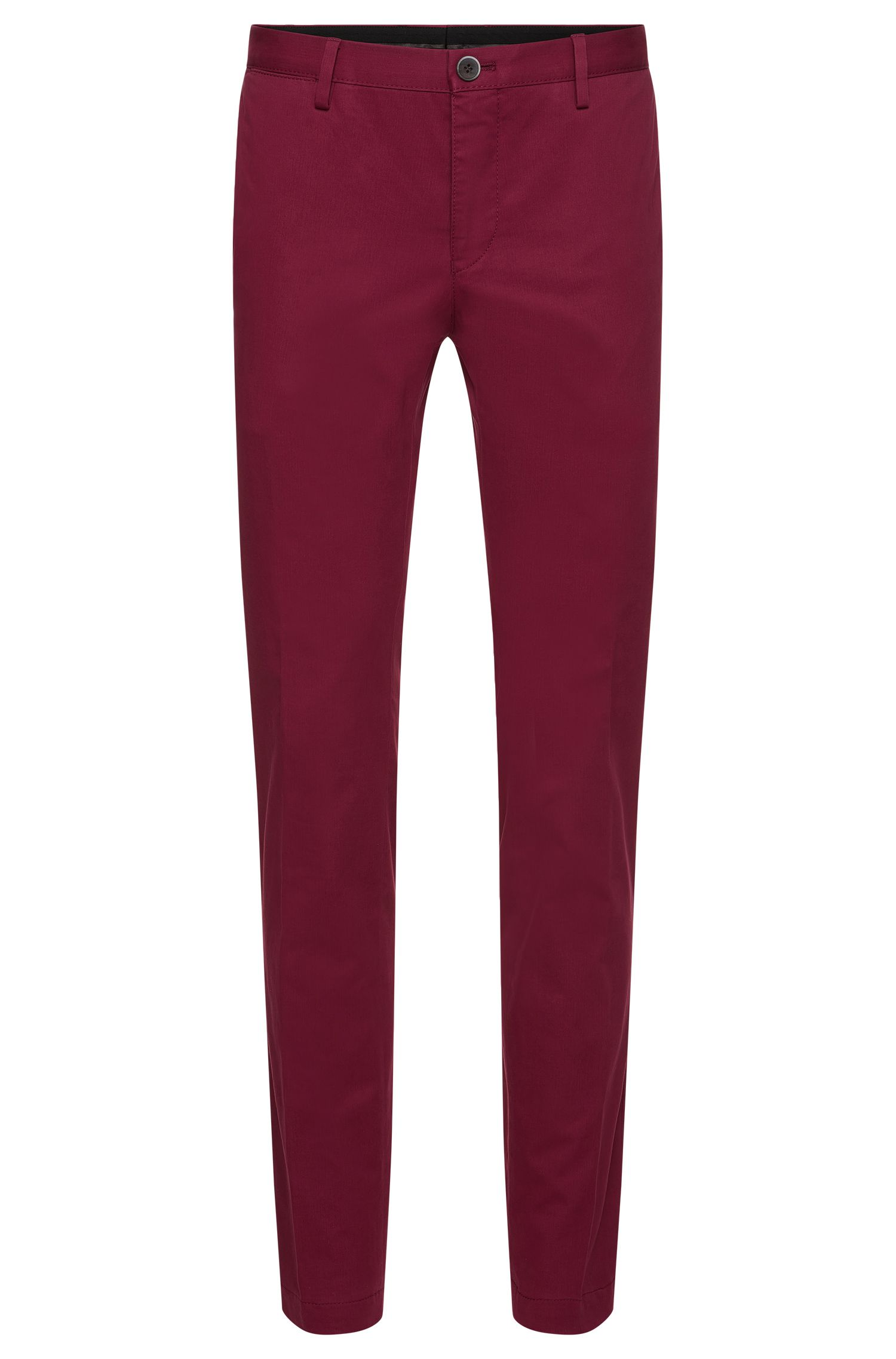 Stretch Cotton Chino Pant, Slim Fit | Stanino W, Dark Purple