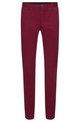 'Stanino W' | Slim Fit, Stretch Cotton Chino Pants, Dark Purple