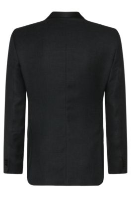 d1d5ada23 BOSS - Italian Virgin Wool Blend Metallic Dinner Jacket, Slim Fit   Hockley