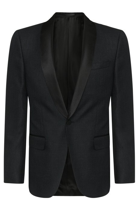 415b1886f BOSS - Italian Virgin Wool Blend Metallic Dinner Jacket, Slim Fit ...