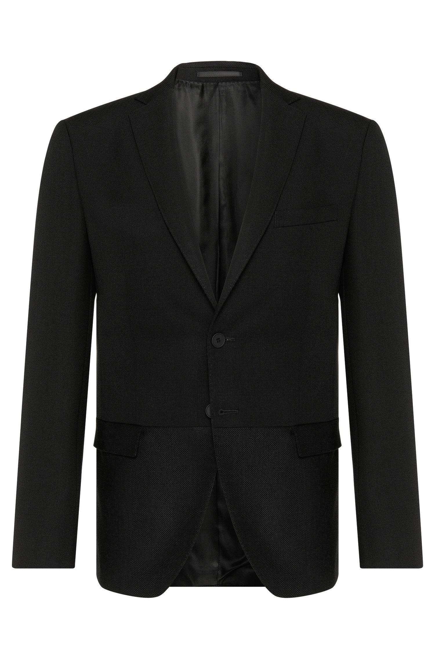 'Reevon'   Extra Slim Fit, Virgin Wool Mohair Textured-Hem Sport Coat