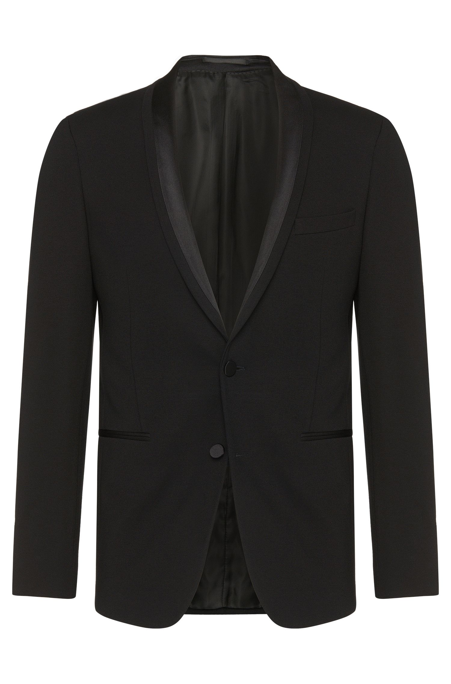Stretch Jersey Satin Dinner Jacket, Extra Slim Fit | Reaman