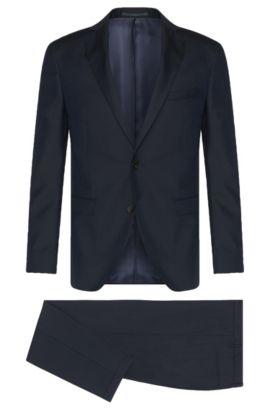 Stretch Virgin Wool Suit, Extra-Slim Fit   Reyno/Wave, Dark Blue