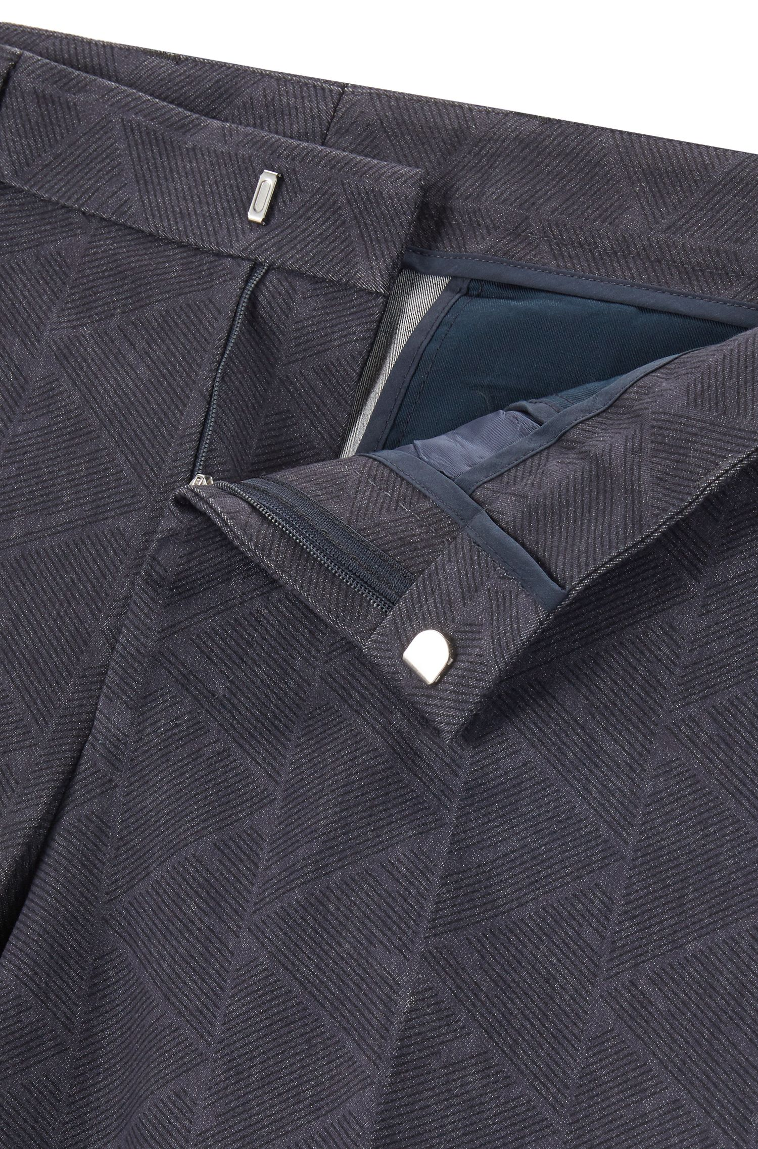 Geometric Stretch Cotton Suit, Slim Fit | Novan/Ben