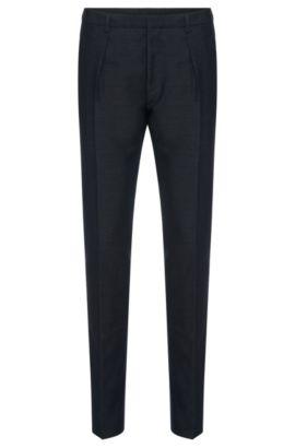 'Per'   Slim Fit, Cotton Silk Dress Pants, Dark Blue