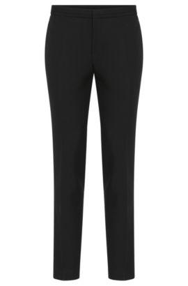 Virgin Wool Mohair Dress Pants, Extra Slim Fit   Wynn, Black