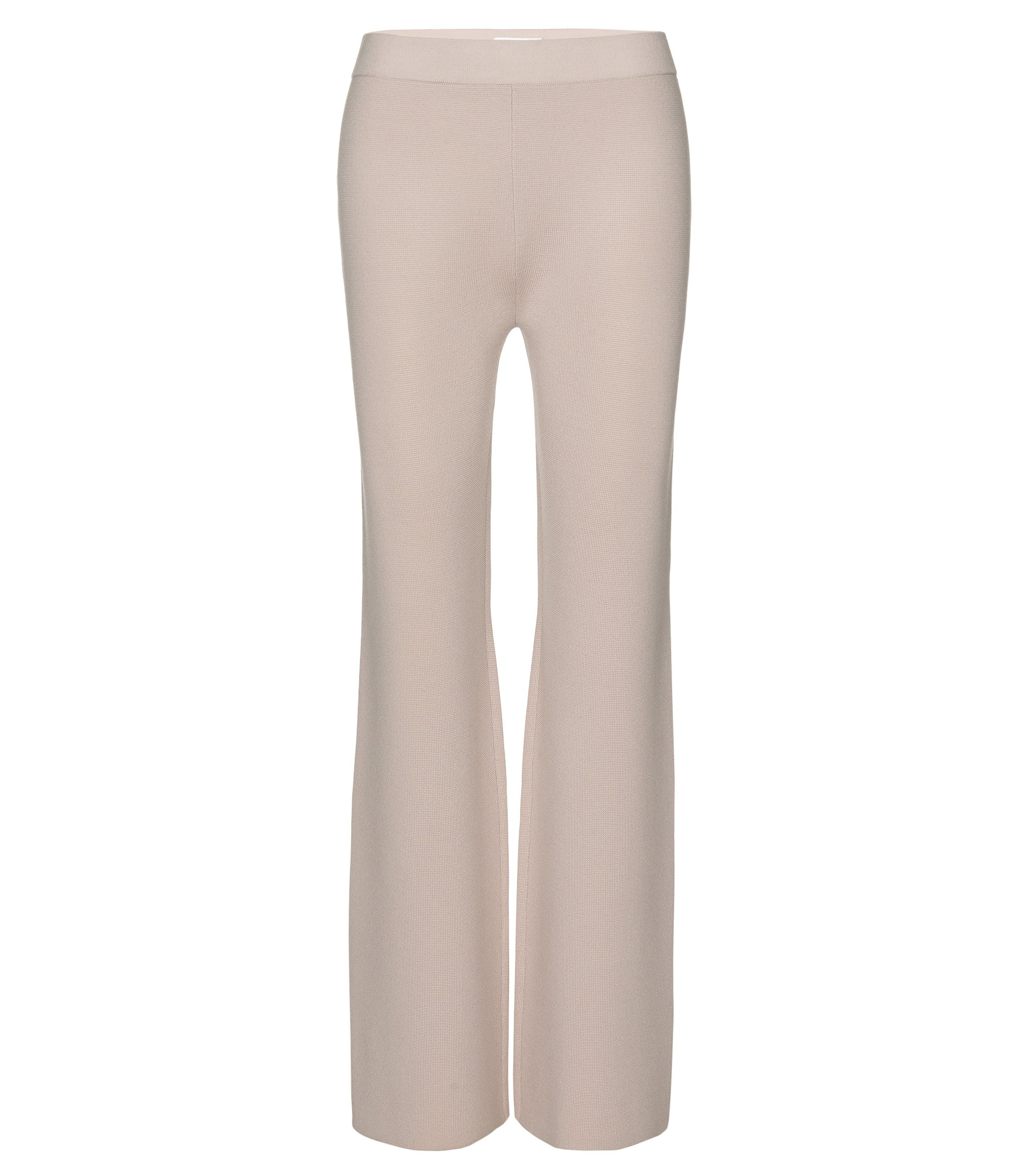 Mercerized Virgin Wool Knit Pant | Falali, Light Beige