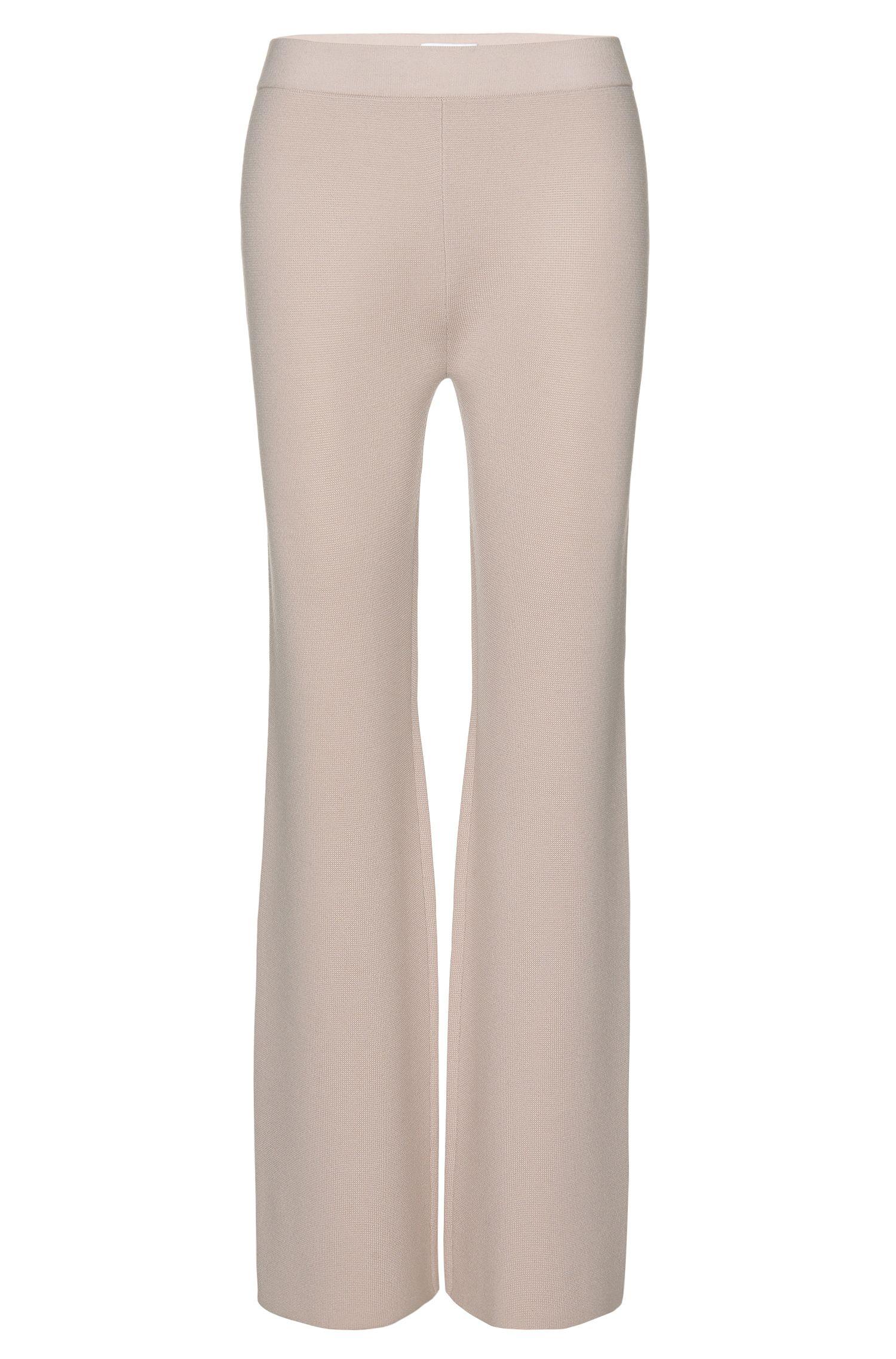 Mercerized Virgin Wool Knit Pant | Falali, Light Beige
