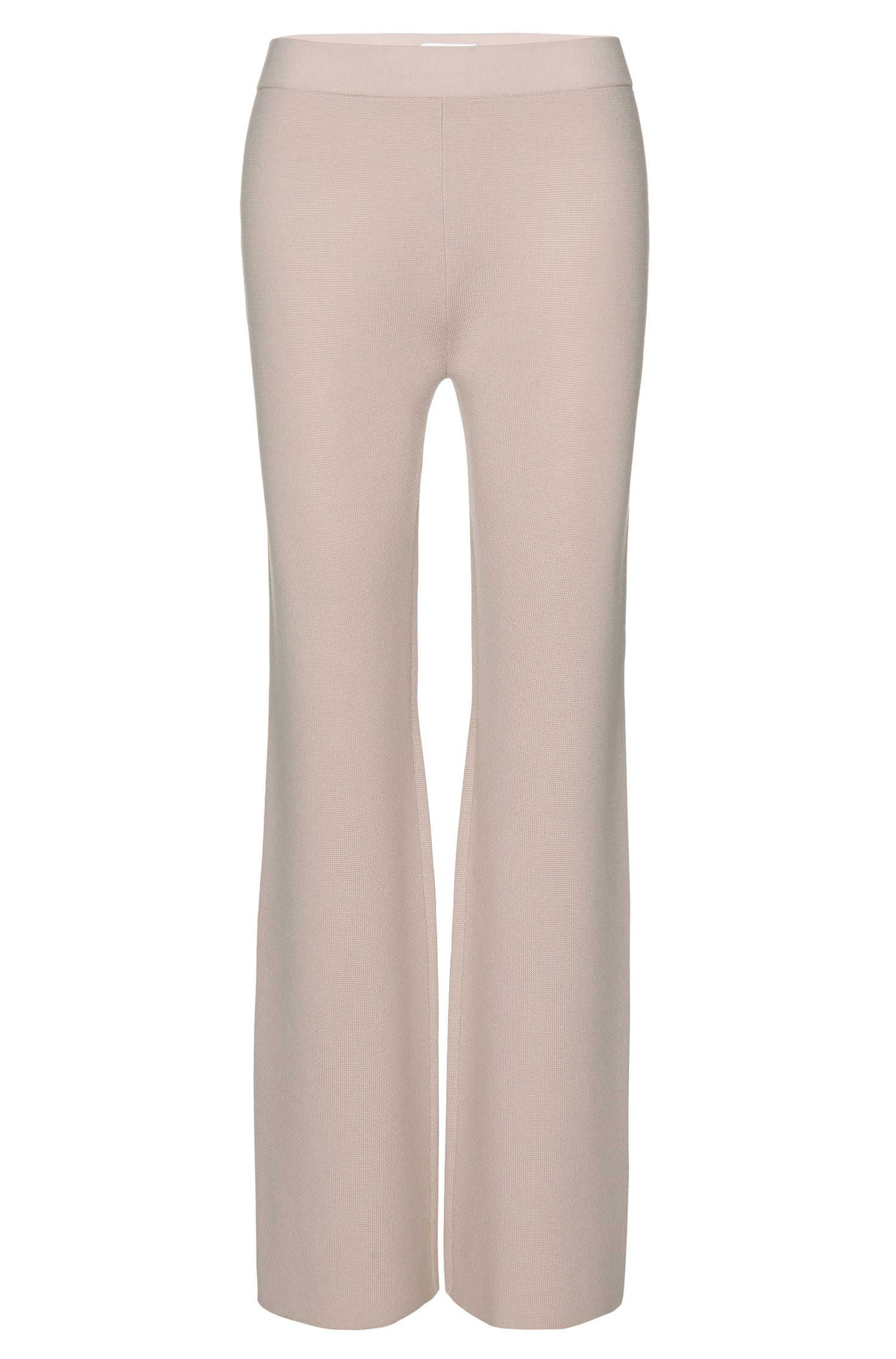 Mercerized Virgin Wool Knit Pant | Falali