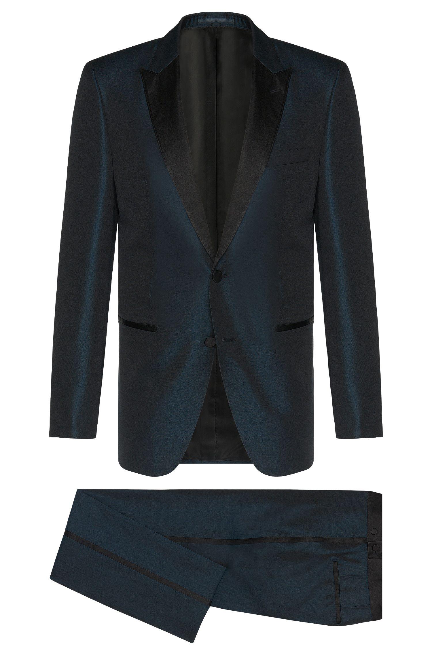 'T-Hampton/Glad'   Slim Fit, Italian Silk Iridescent Tuxedo