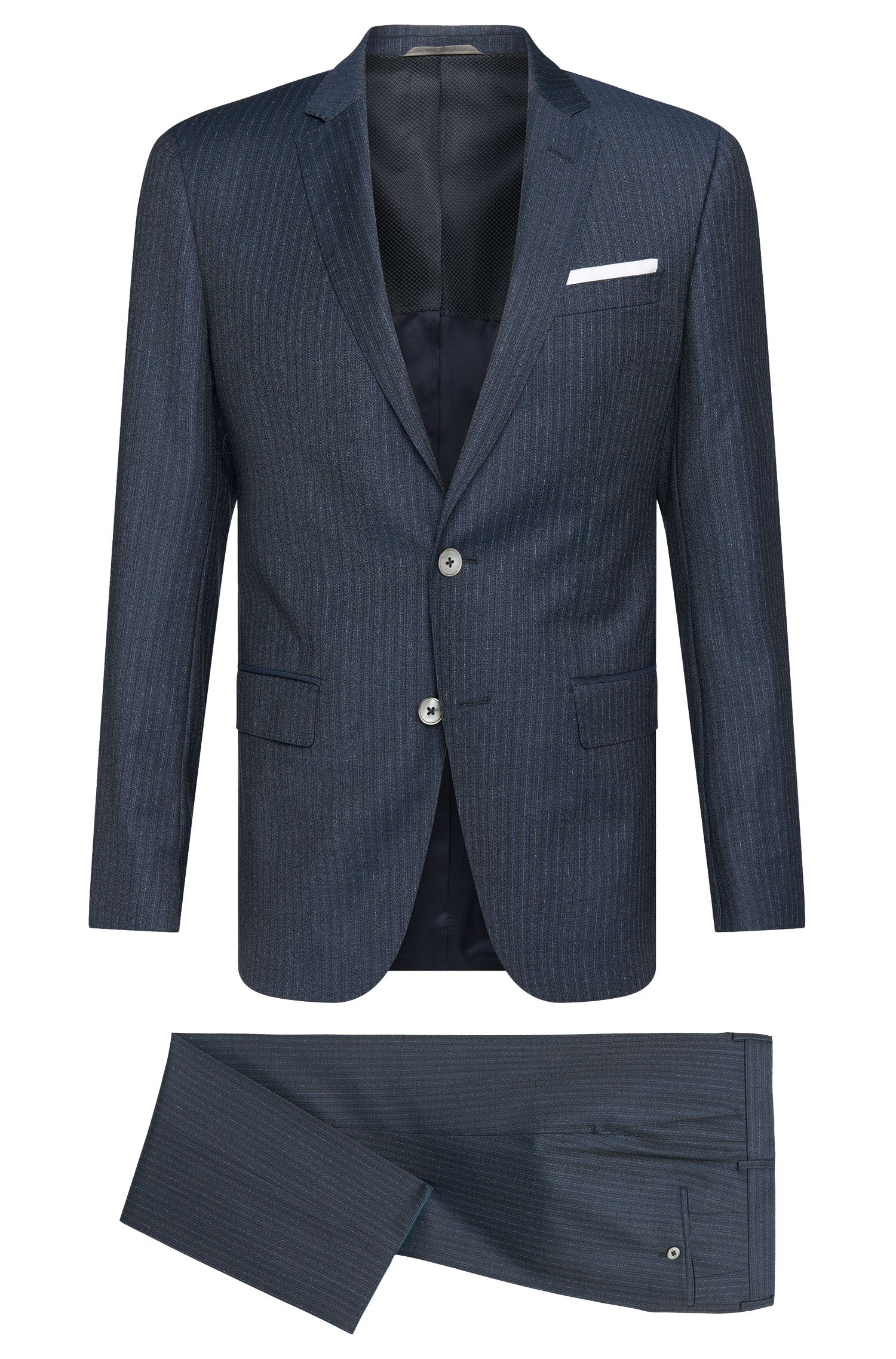 'Hutson/Gander' | Slim Fit, Super 100 Italian Virgin Wool Suit