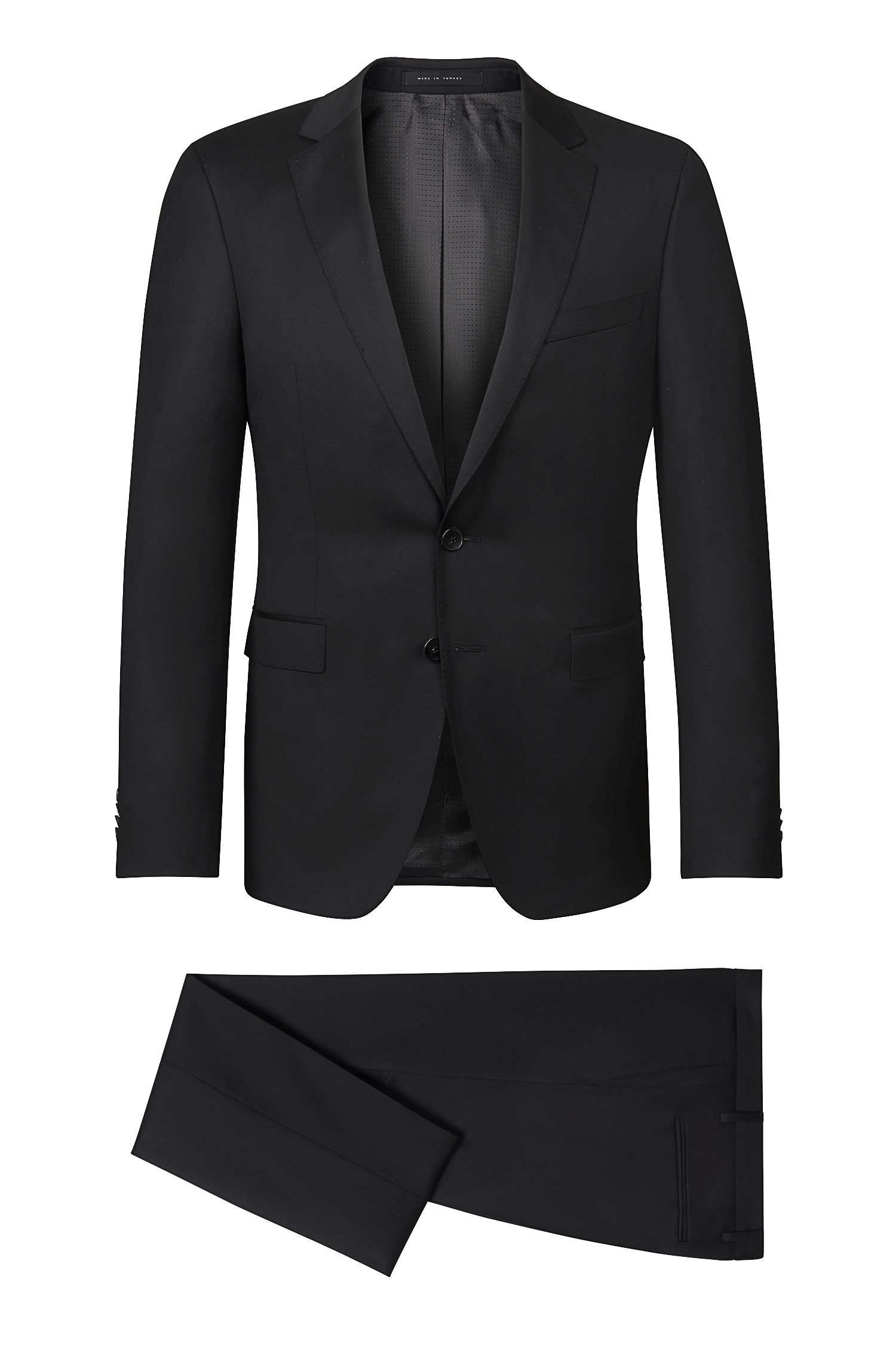 Virgin Wool Suit, Extra-Slim Fit | Ryan/Win