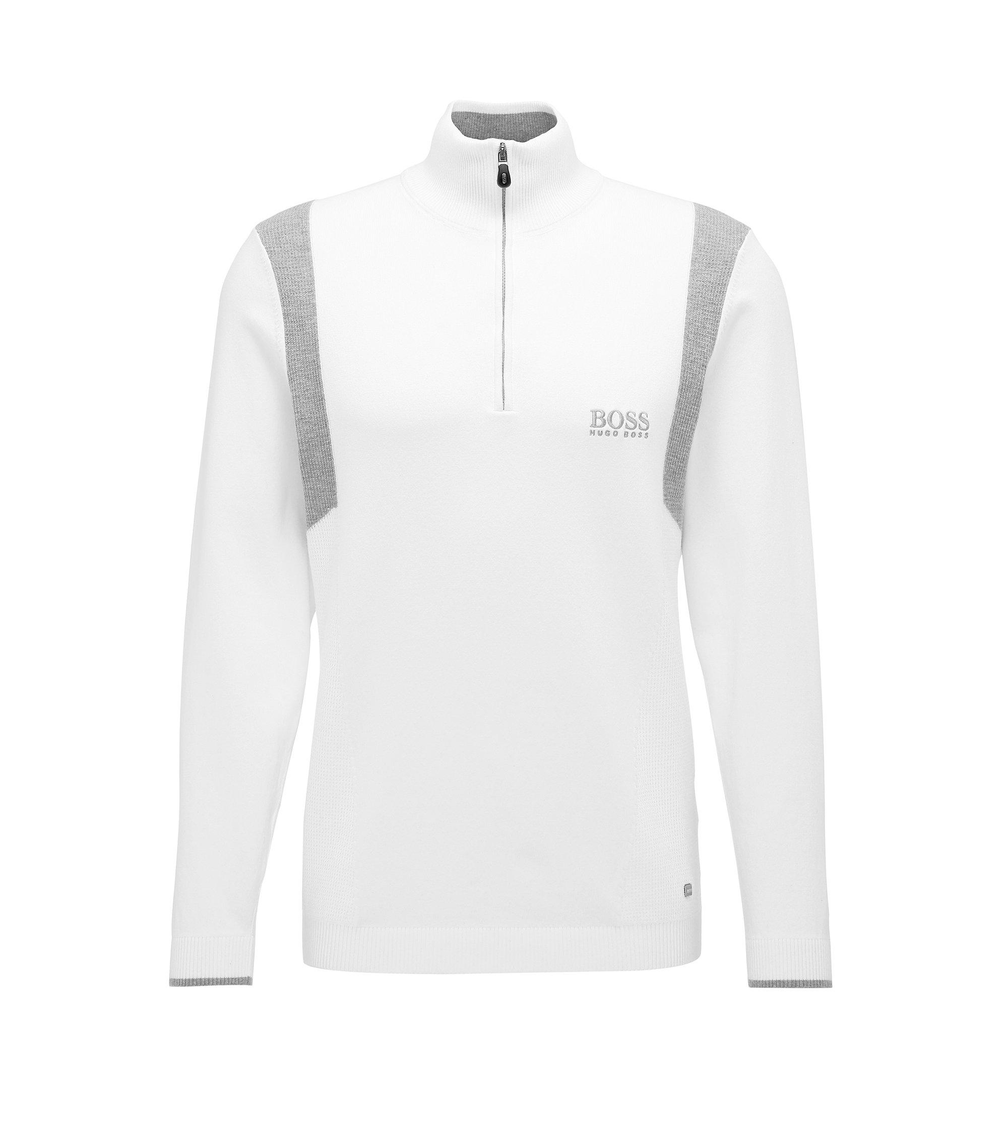 Water-Repellent Stretch Cotton Sweater | Zelichior Pro S17, White