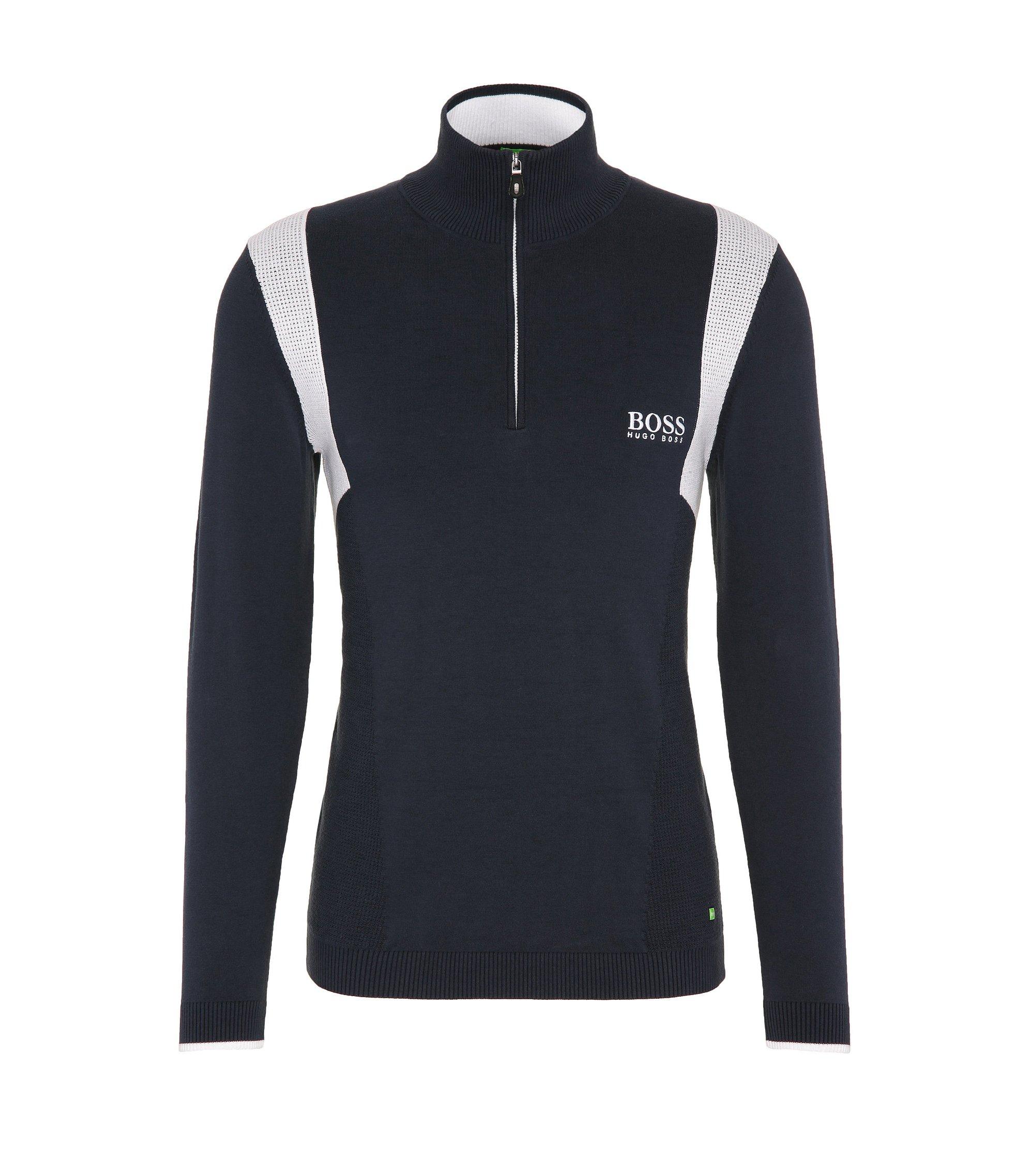Water-Repellent Stretch Cotton Sweater | Zelichior Pro S17, Dark Blue