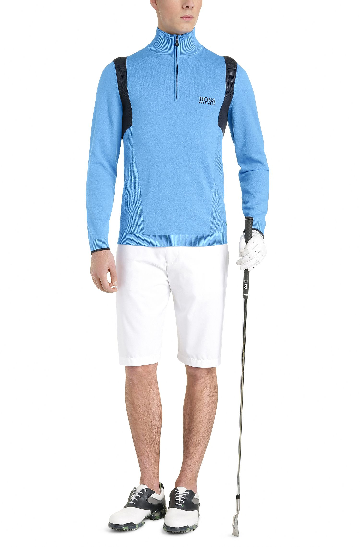 Water-Repellent Stretch Cotton Sweater   Zelichior Pro S17