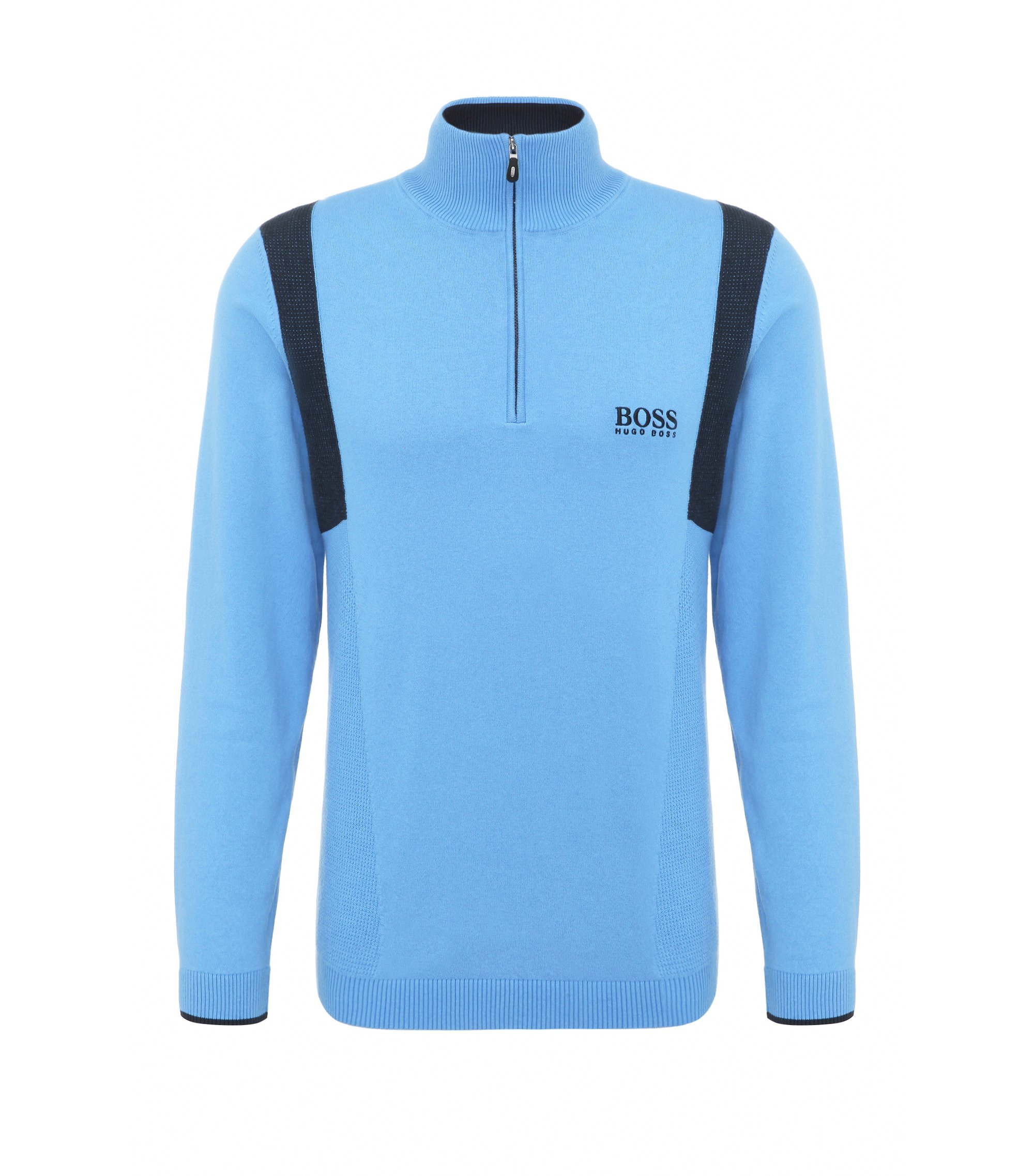 Water-Repellent Stretch Cotton Sweater | Zelichior Pro S17, Blue