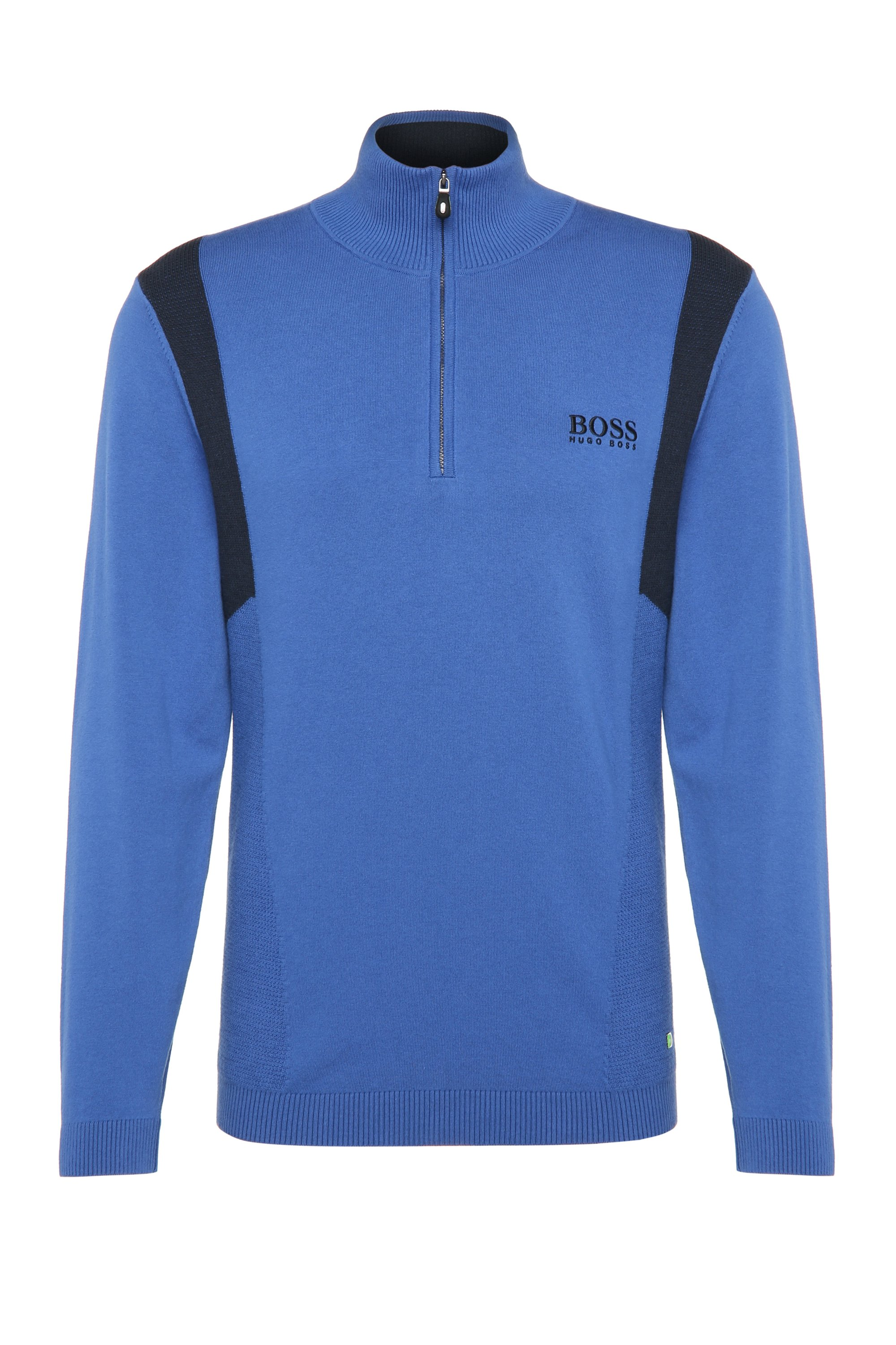Water-Repellent Stretch Cotton Sweater | Zelichior Pro S17, Open Blue