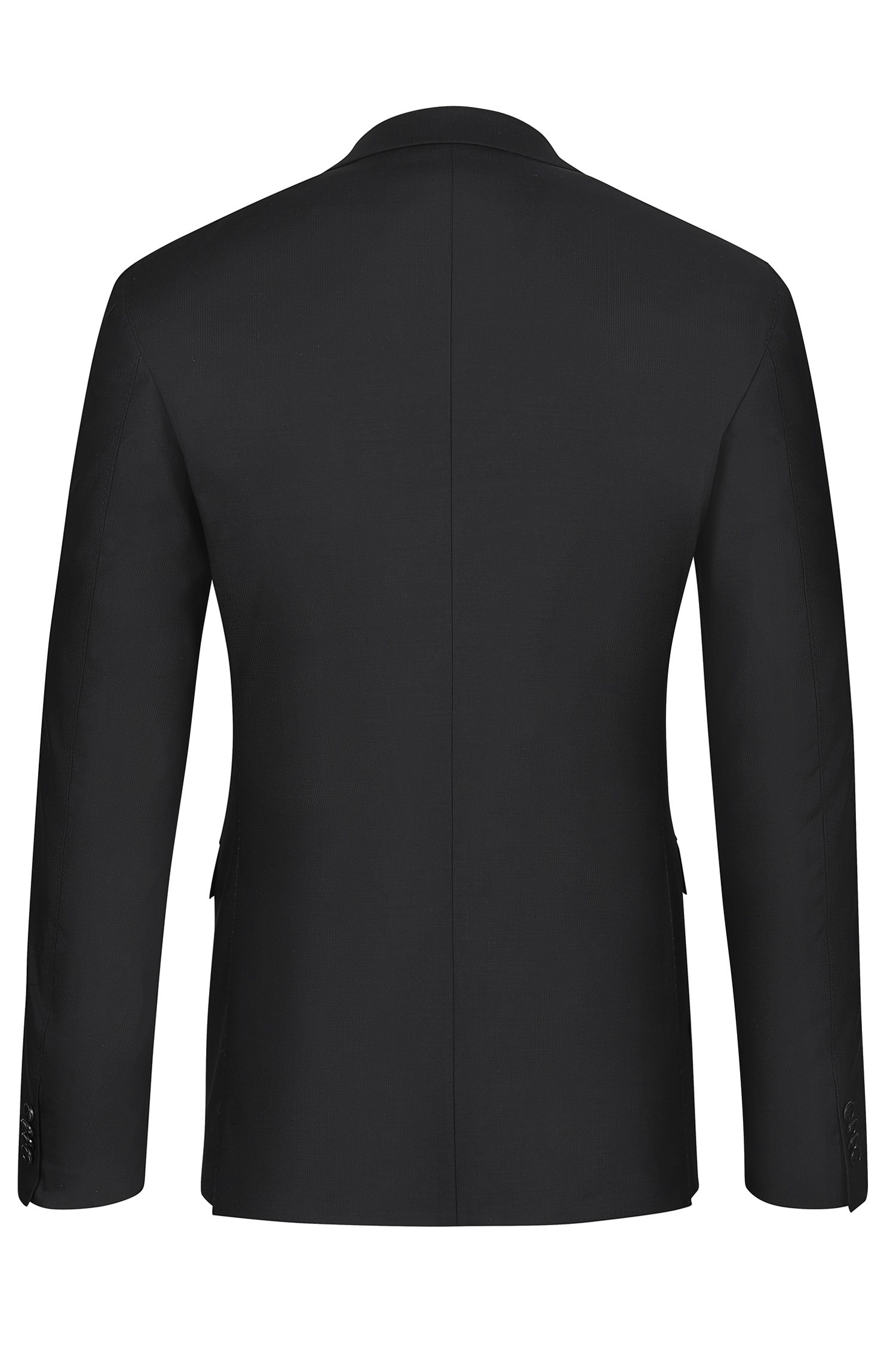 Stretch Virgin Wool Textured Suit, Extra-Slim Fit | Reyno/Wave