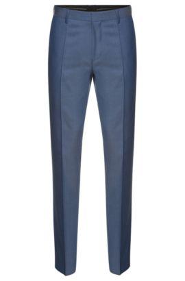'Genesis' | Slim Fit, Italian Super 100 Virgin Wool Dress Pants, Light Blue